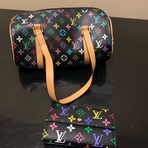 Matching Louis Vuitton wallet and bag